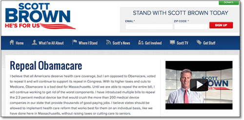 "Scott Brown -  ""Repeal Obamacare"""