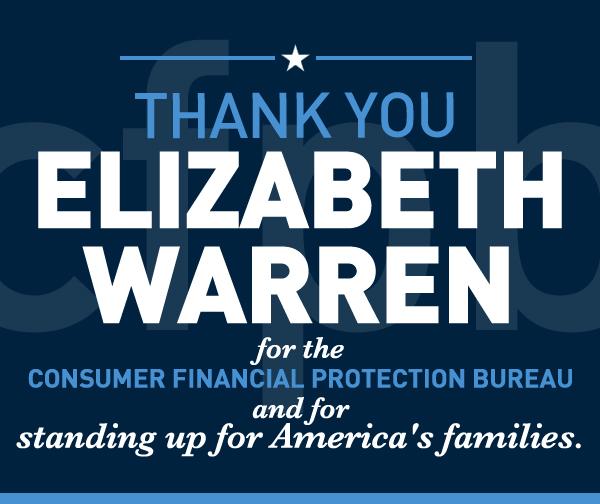 Elizabeth Warren - CFPB Anniversary
