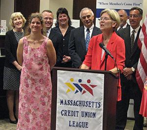 Elizabeth Warren - Massachusetts Credit Union League Endorsement