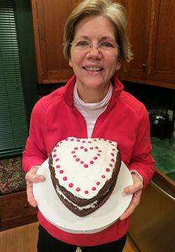 Elizabeth Warren Valentine's Day Cake