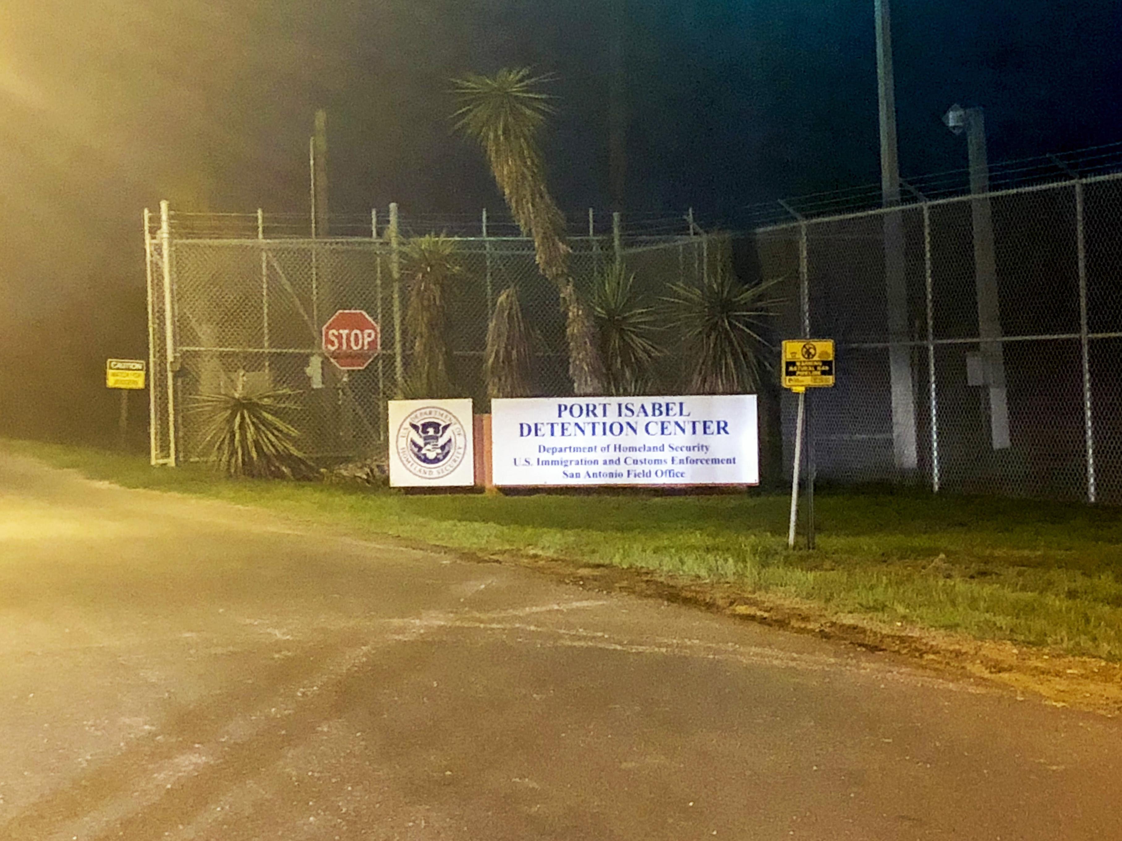 "Sign that reads ""Port Isabel Detention Center"""