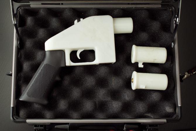 3D printed gun in a case