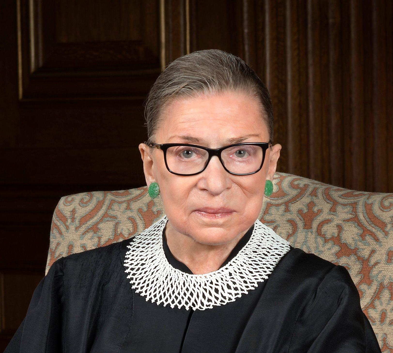Headshot of U.S. Supreme Court Justice Ruth Bader Ginsburg